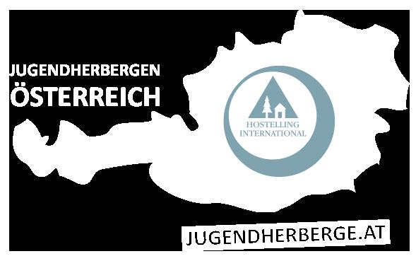 Logo Jugendherbergen in Österreich Weiss Retina